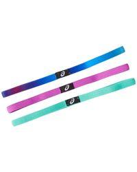 Asics - Hera Thin Headbands - Pack Of 3 - Lyst
