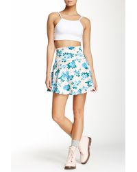 American Apparel - Printed High Waisted Skirt - Lyst