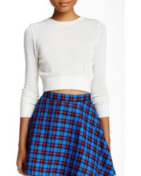 American Apparel - Lightweight Crop Sweater - Lyst