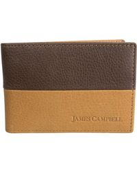 James Campbell - Leather Slimfold Wallet - Lyst