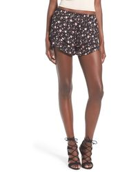 4si3nna - Floral Print Tiered Shorts - Lyst