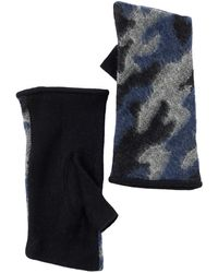 Vincent Pradier - Camo Fingerless Wool Gloves - Lyst