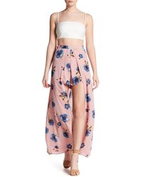 Peach Love California - Floral Print Short With Overlay - Lyst