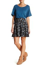 Lush - Floral Self-tie Wrap Skirt - Lyst