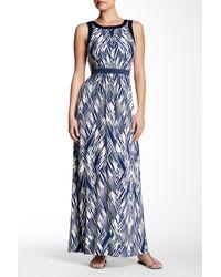 NYDJ - Maxi Printed Dress - Lyst