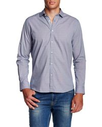 Singer + Sargent - Long Sleeve Micro Houndstooth Regular Fit Shirt - Lyst