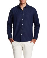 Singer + Sargent - Long Sleeve Dobby Regular Fit Shirt - Lyst