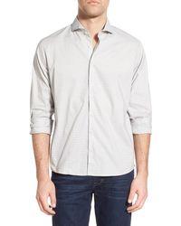 Singer + Sargent - Regular Fit Print Poplin Sport Shirt - Lyst