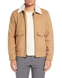 Singer + Sargent - Work Bomber Jacket With Fleece Collar - Lyst