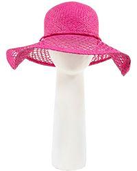 Pia Rossini - Sarasota Floppy Straw Hat - Lyst