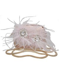 Chinese Laundry - Seline Faux Maribou Feather Mini Crossbody Bag - Lyst