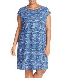 Sejour - Cap Sleeve Shift Dress (plus Size) - Lyst