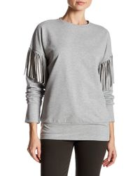 Spenglish - Long Fringe Sleeve Sweatshirt - Lyst