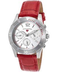 Swiss Legend - Women's Paradiso Diamond Embossed Leather Strap Watch - Lyst