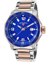 Swiss Legend - Men's Blue Geneve Sport Bracelet Watch - Lyst