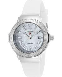 Swiss Legend - Women's South Beach Mother Of Pearl Diamond Watch - 0.096 Ctw - Lyst