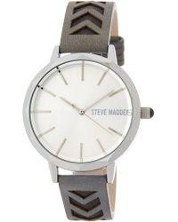 Steve Madden - Women's Arrow Embossed Leather Strap Watch - Lyst