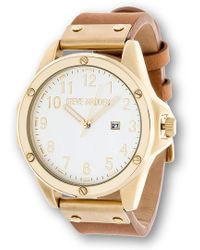 Steve Madden | Men's Analog Leather Strap Watch | Lyst