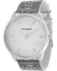 Steve Madden - Women's Analog Crystal Mesh Bracelet Watch - Lyst