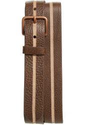 Caputo & Co. - Skived Leather Belt - Lyst