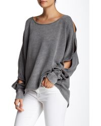 Spenglish - Split Sleeve Sweatshirt - Lyst