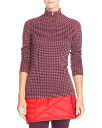 Smartwool - Nts Mid 250 Print Zip Base Layer Wool Pullover - Lyst