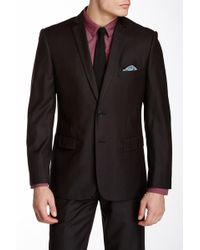 Nicole Miller - Solid Charcoal Two Button Notch Lapel Suit Separates Jacket - Lyst