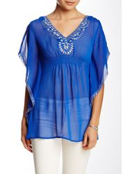 Sienna Rose - Embroidered Blouse - Lyst