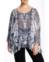Sienna Rose | Shredded Sleeve Blouse (plus Size) | Lyst