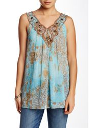 Sienna Rose - Glowing Temp Embroidered Tank - Lyst