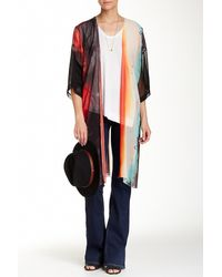 Sienna Rose - Sheer Printed Cover-up - Lyst