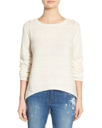 Jag Jeans - Boat Neck Drop Tail Sweater (petite) - Lyst