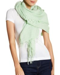 Blue Pacific - Oversized Square Cashmere Blend Scarf - Lyst