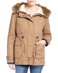 Thread & Supply - 'ranger' Parka With Faux Fur Trim - Lyst