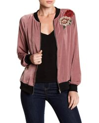 West Kei - Floral Applique Bomber - Lyst