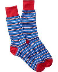 Bugatchi - Ruby & Royal Striped Sock - Lyst