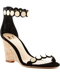 Vince Camuto Signature - Elodie Scalloped Wedge Sandal - Lyst