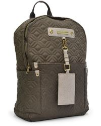 Adrienne Vittadini - Dark Clay Quilted Lightweight Backpack - Lyst