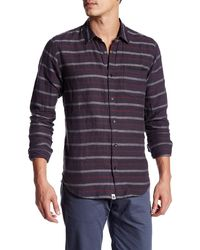 ourCaste - Bradly Long Sleeve Woven Stripe Shirt - Lyst