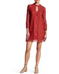 ANAMÁ - Lace Mock Neck Cutout Dress - Lyst