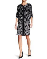 Grayse - Plaid Floral Elbow Sleeve Coat - Lyst