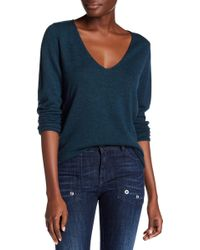 Zadig & Voltaire - Nosfa Genuine Leather Elbow Patch Wool Blend Sweater - Lyst
