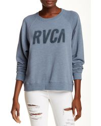 RVCA - Jagged Tonal Logo Sweatshirt - Lyst