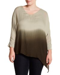 Wit & Wisdom - Ruched Sleeve Ombre Knit Tee (plus Size) - Lyst