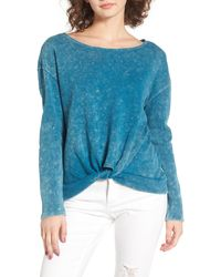 RVCA - Knotted Hem Pullover - Lyst