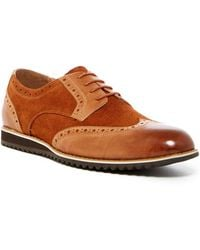Zanzara - Leather & Suede Wingtip Derby Shoes - Lyst