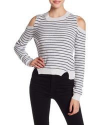 Lucky Brand - Stripe Cold Shoulder Pullover - Lyst