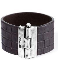 Uno De 50 - Quadrilateral Leather Bracelet - Lyst