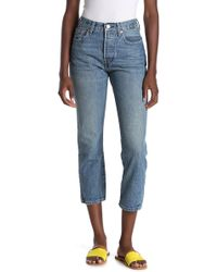 5c53e37f Levi's Levi's '501 Ct' Distressed Boyfriend Jeans in Blue - Lyst