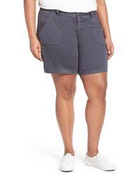 Caslon - Utility Shorts (plus Size) - Lyst
